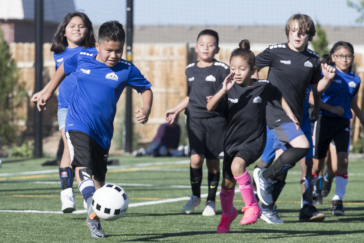We organize weekly games with other schools in the program at a centralized location and provide referees to help players learn the game.
